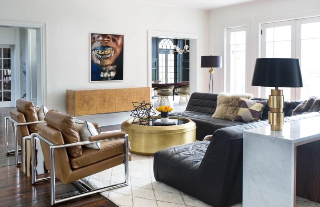 Estilo contemporâneo na decoração da sala de estar